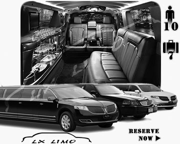 Stretch Limo airport shuttle in Reno