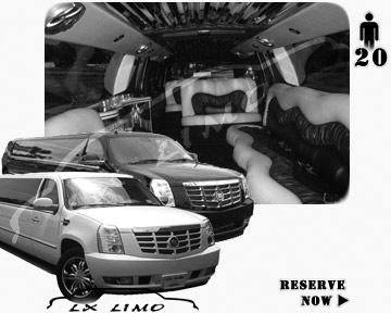 Cadillac Escalade 20 passenger SUV Limousine for rental in Reno, NV