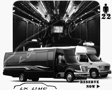 Party Limo Bus rental in Reno | Reno LIMOBUS 22 passengers